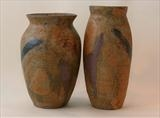 2 vase forms in stoneware by Norman Yap, Ceramics, Stained stoneware